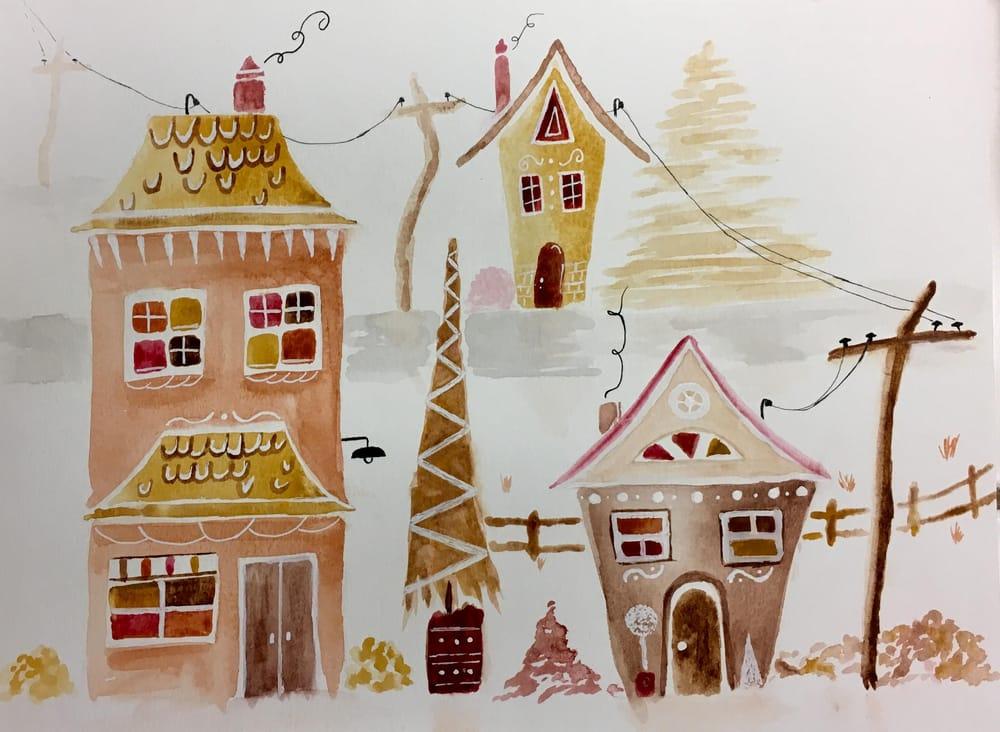 Gingerbread Neighborhood - image 3 - student project