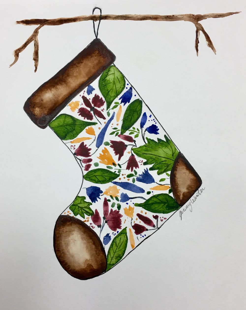 Woodsy Stocking - image 2 - student project