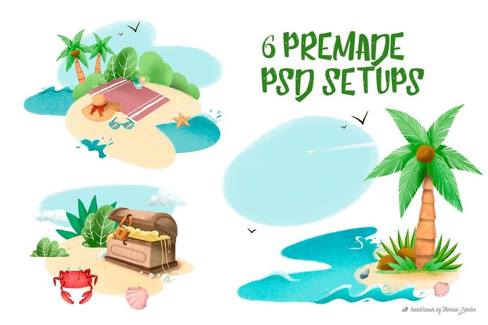 Summer Illustration Set Pack - image 4 - student project