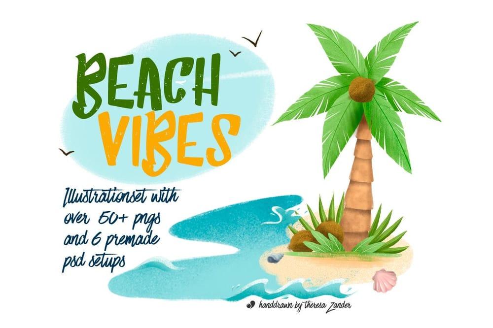 Summer Illustration Set Pack - image 1 - student project