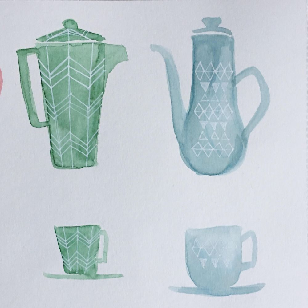 Coffee pots and cups - image 2 - student project