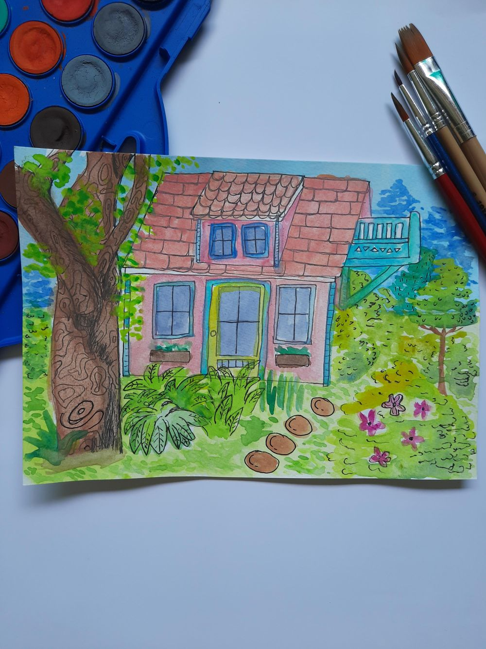 Greenery Pink House - image 5 - student project