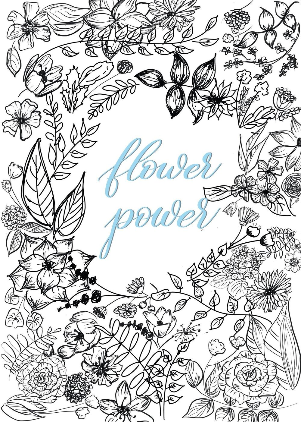 flower power / procreate drawing - image 1 - student project