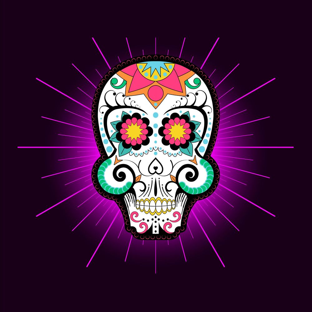 Day of the Dead Skull (Real Time Mirror Drawing ) - image 3 - student project
