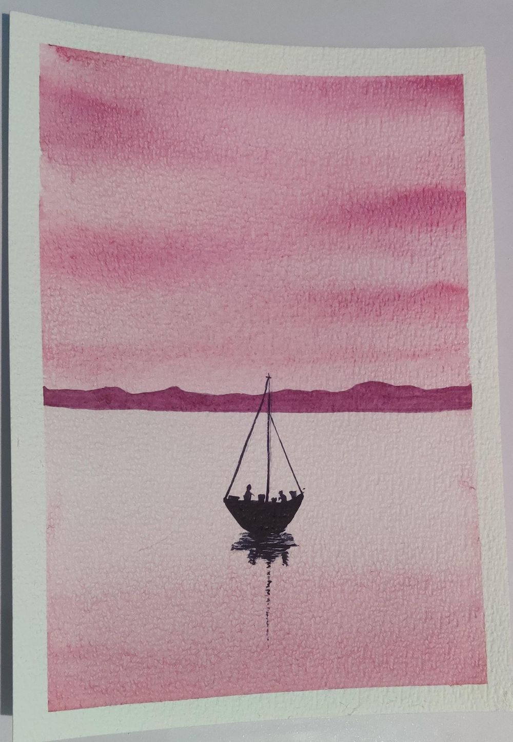 Relaxing Watercolour Projects for Beginners: Simple Skies & Silhouettes - image 1 - student project
