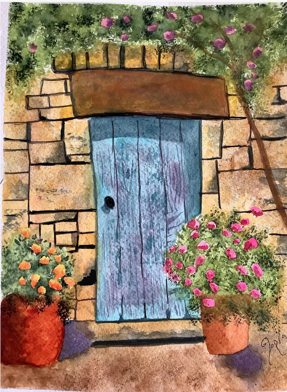 Inviting Blue Door - image 1 - student project