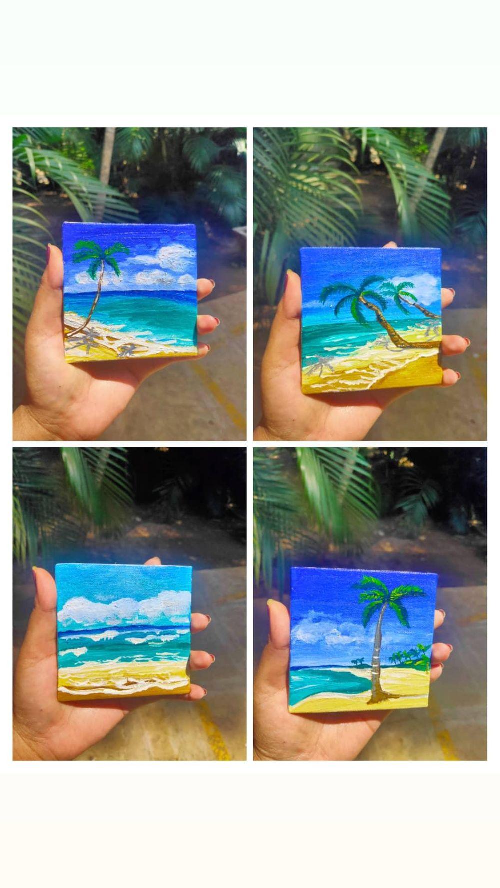 Mini Beach Coasters - image 1 - student project
