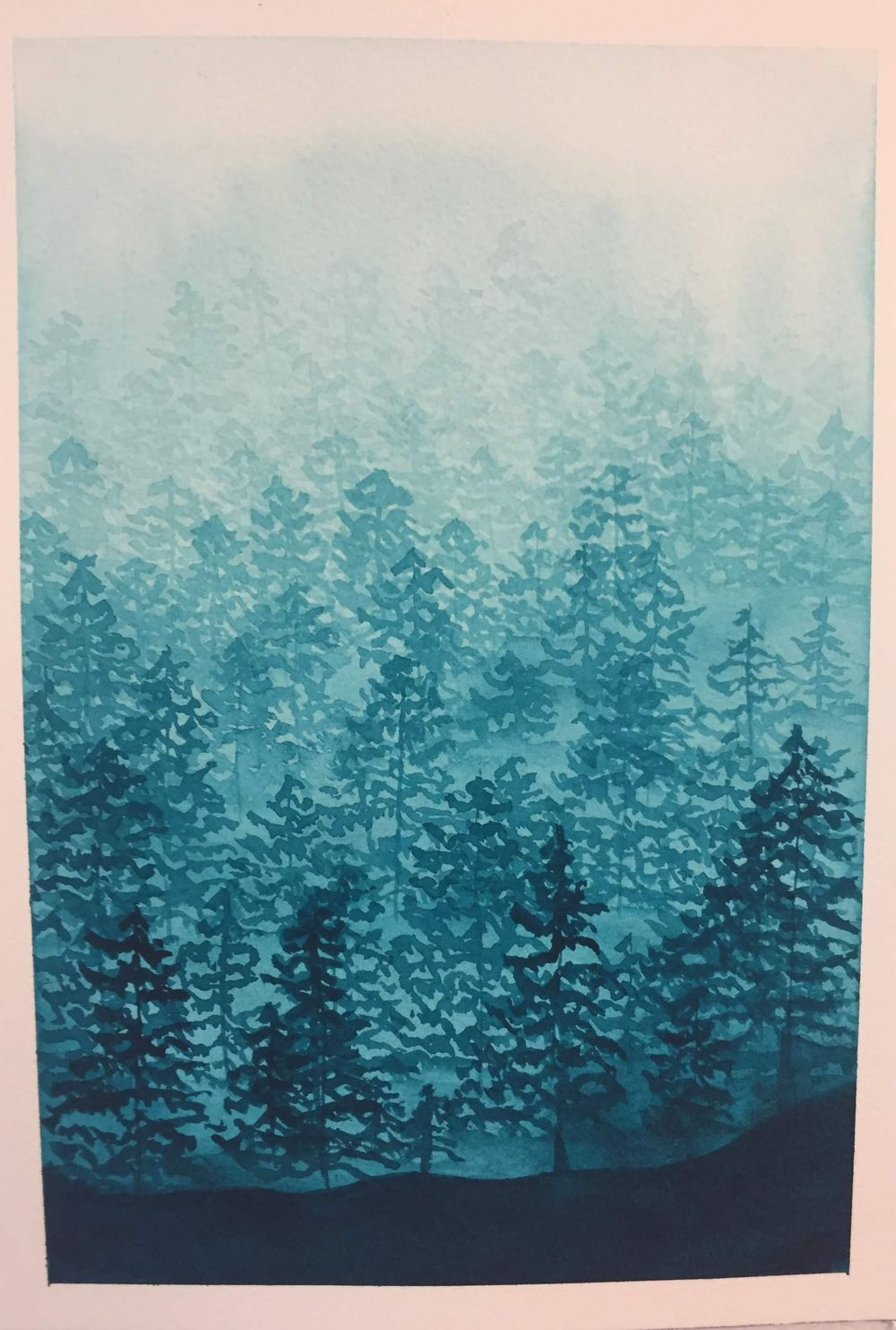 Misty Forest in Phthalo Turquoise - image 1 - student project