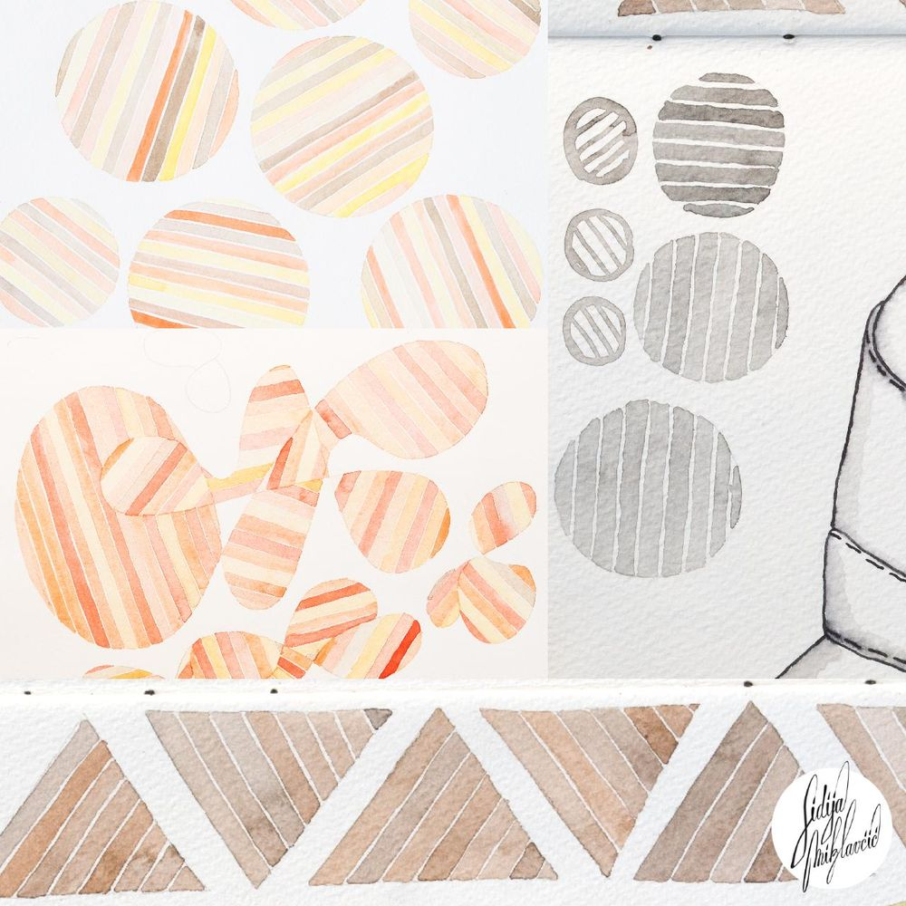 Pulse and Precision used in my ordinary work for surface pattern design - image 3 - student project