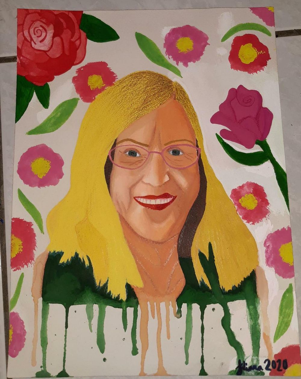 Gouache Portrait - image 1 - student project