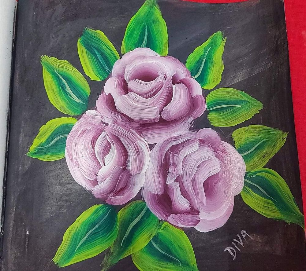 Acrylic flower painting - image 1 - student project