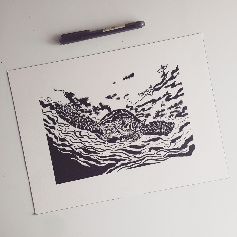 My first inking  - image 1 - student project