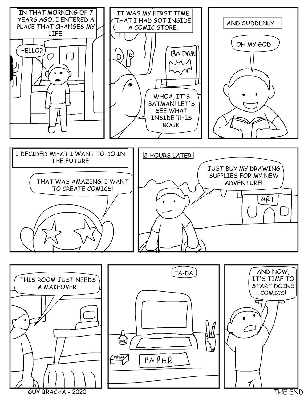 The day i start creating comics - image 1 - student project