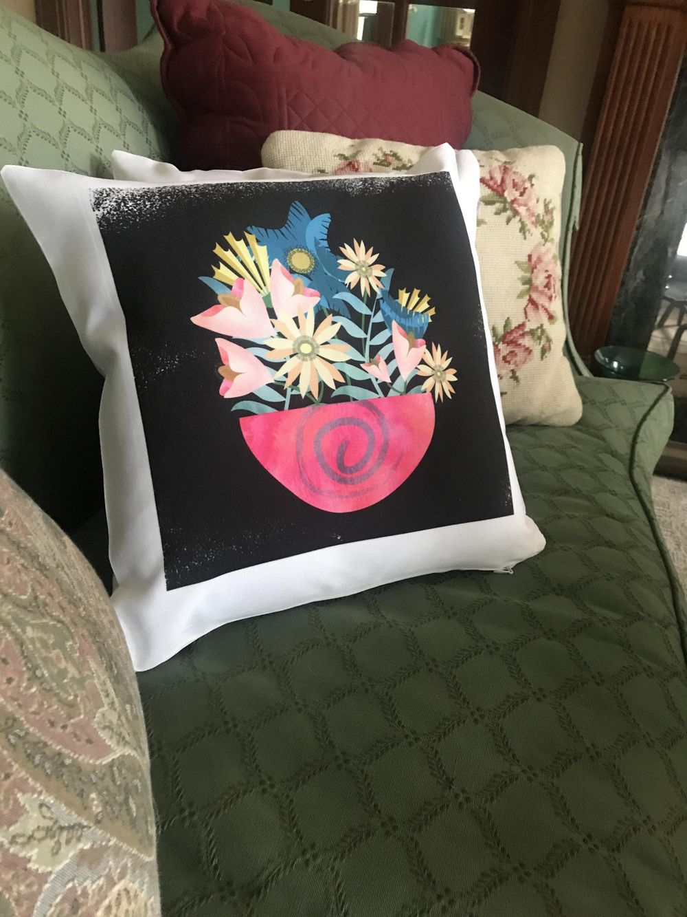 Textured Floral Pillow - image 1 - student project