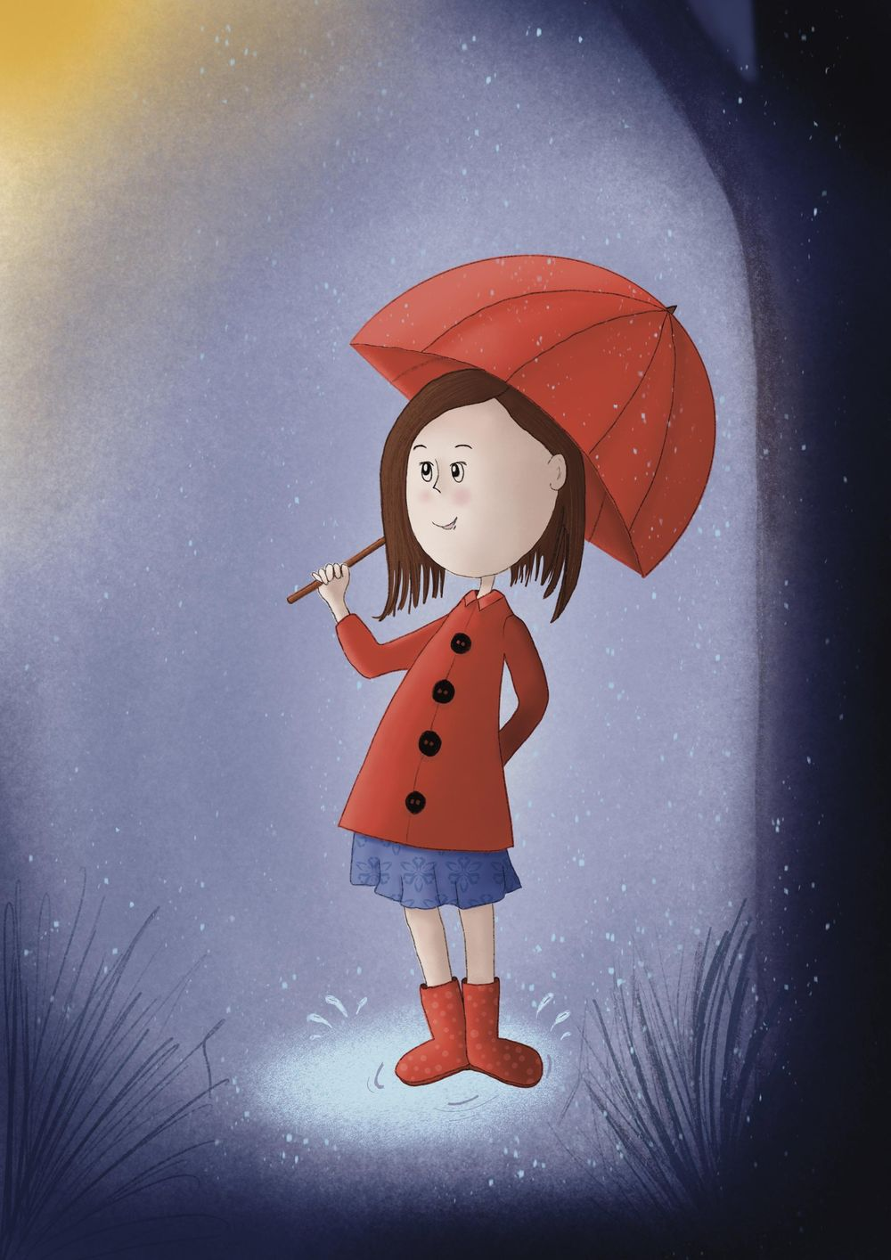 Girl in rain - image 1 - student project