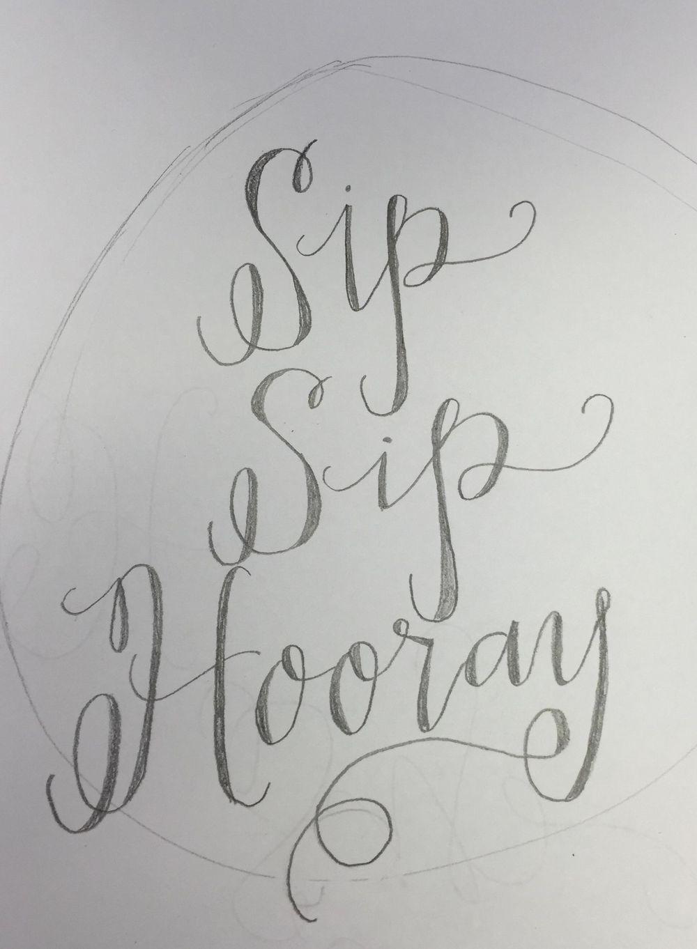 Sip Sip Hooray Mirror - image 1 - student project