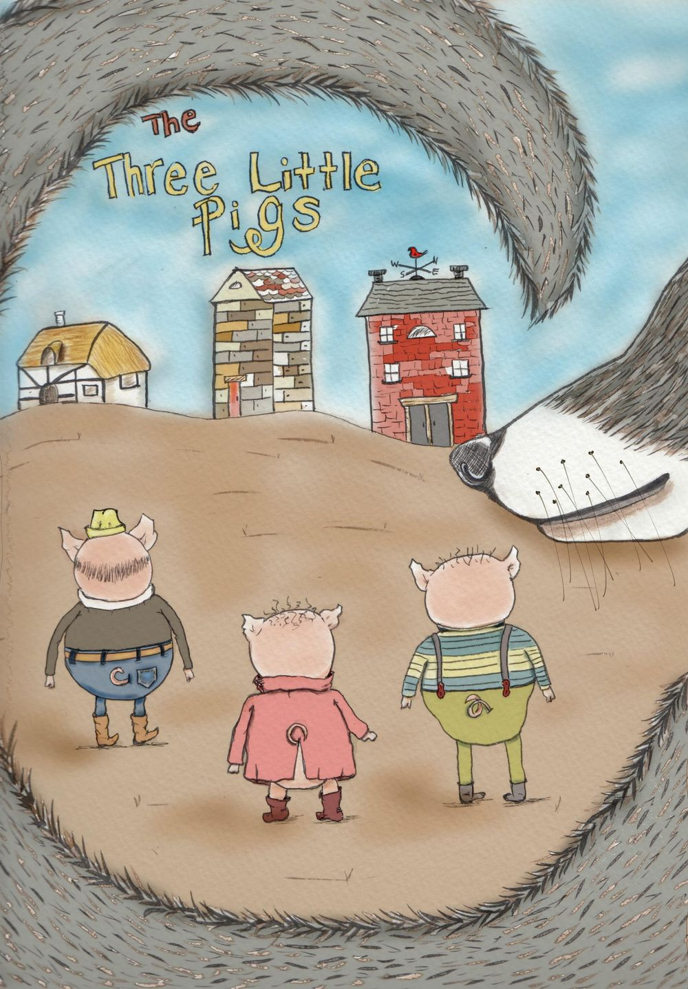 """My """"The Three Little Pigs"""" cover - image 1 - student project"""