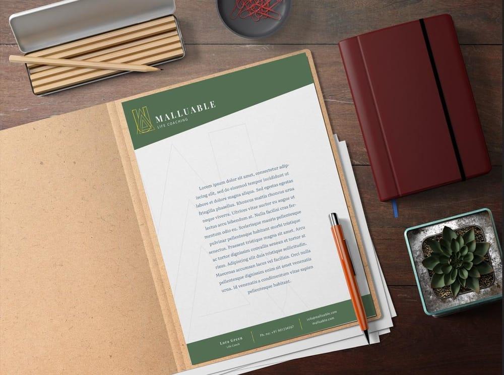 Malluable Letterhead - image 1 - student project