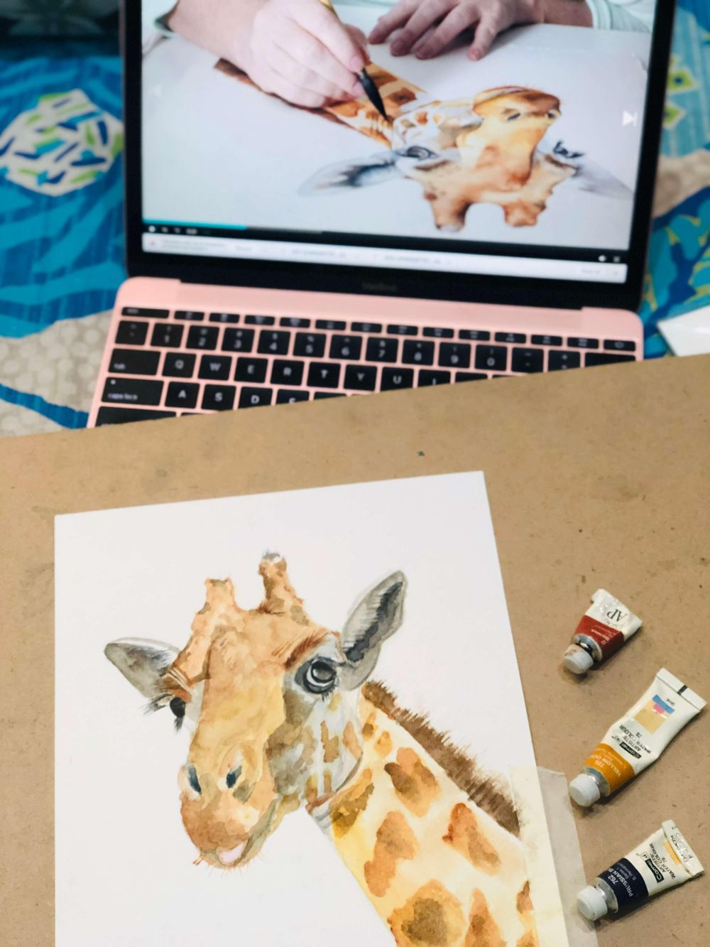 Watercolor Giraffe by Louise De Masi - image 1 - student project