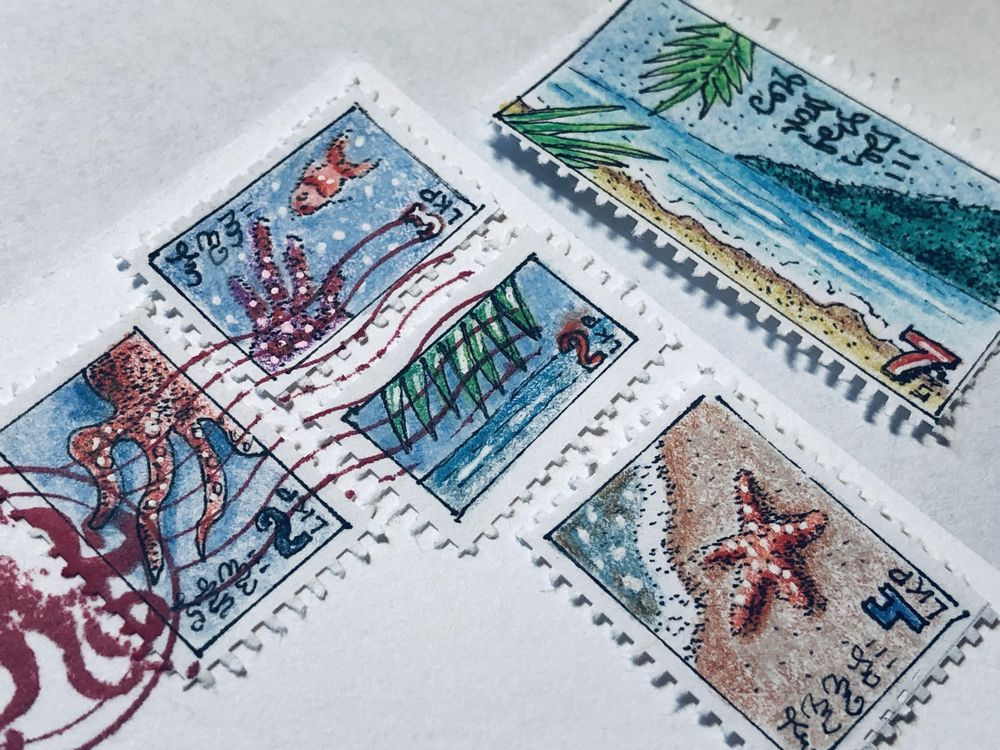 Faux Postage Stamps - image 1 - student project