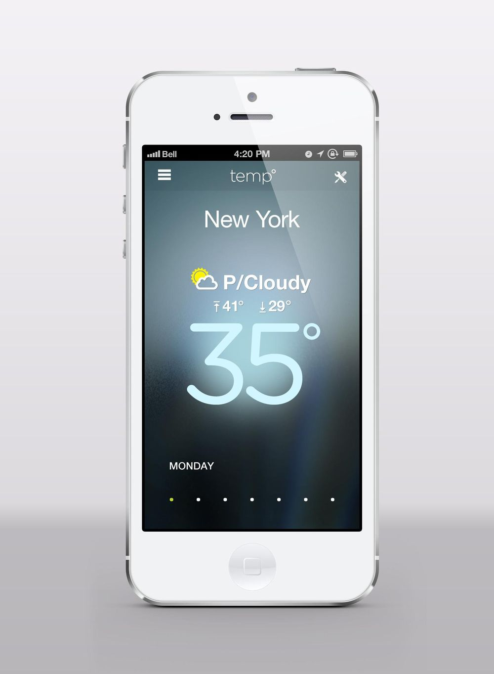 Temp Weather App - image 3 - student project