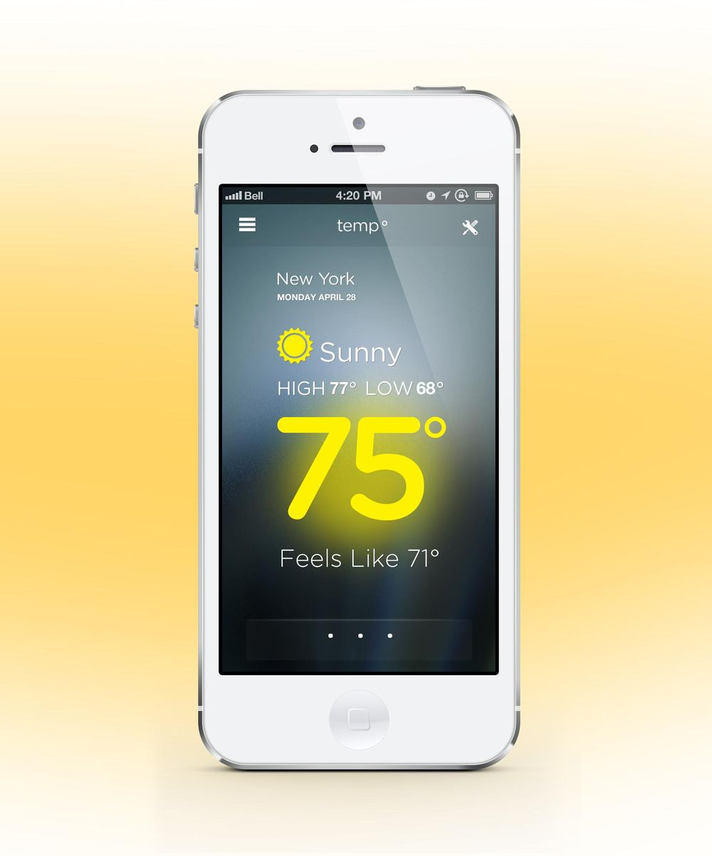 Temp Weather App - image 4 - student project