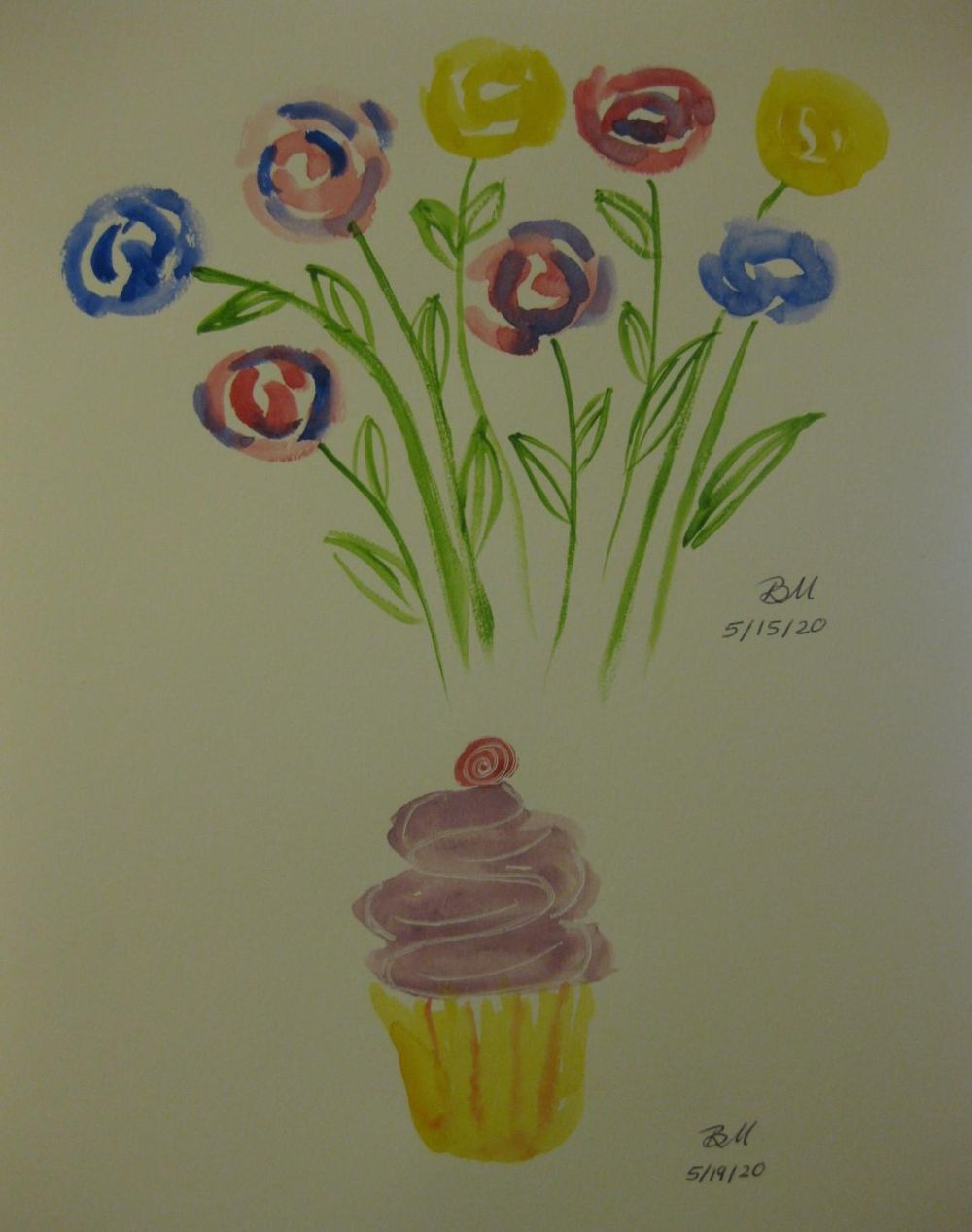 Flowers and a cupcake - image 1 - student project