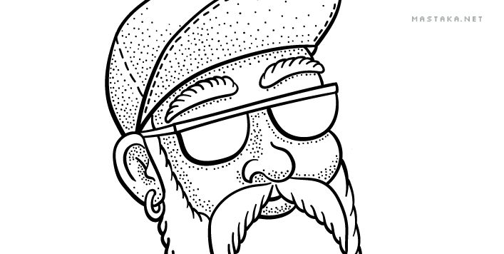 Old Skater: Inking - image 6 - student project