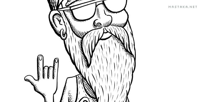 Old Skater: Inking - image 2 - student project