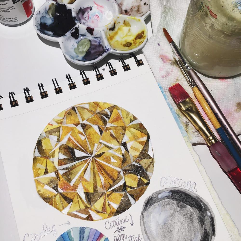 Practice & beautiful citrine gem! - image 2 - student project