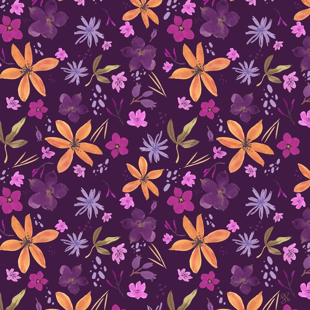 Wildflower Repeat + new mockups - image 10 - student project
