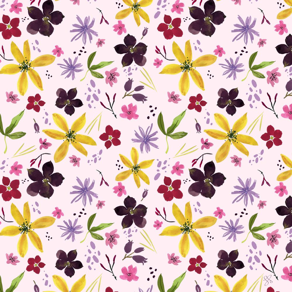 Wildflower Repeat + new mockups - image 5 - student project