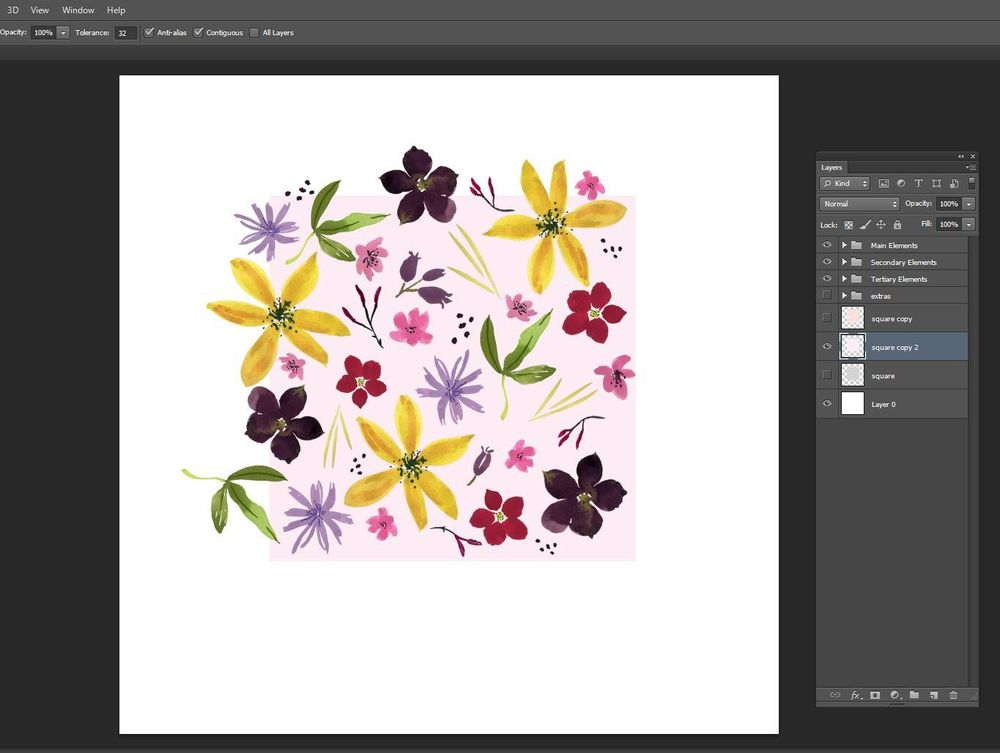 Wildflower Repeat + new mockups - image 3 - student project