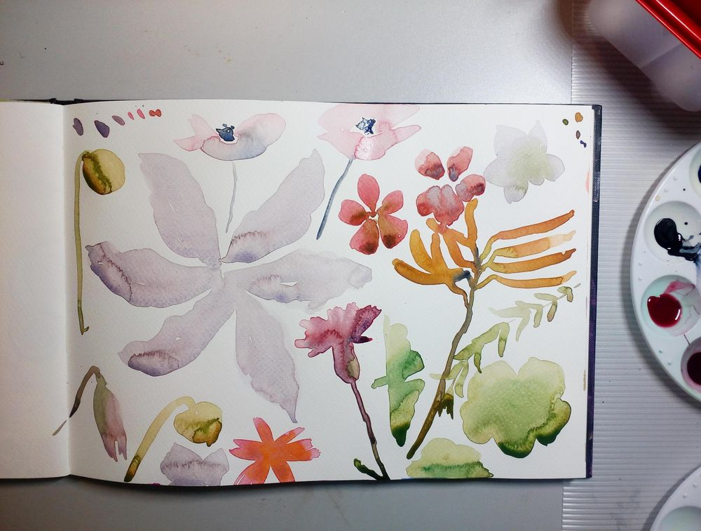 Attempting 'Abstract' Florals - image 5 - student project