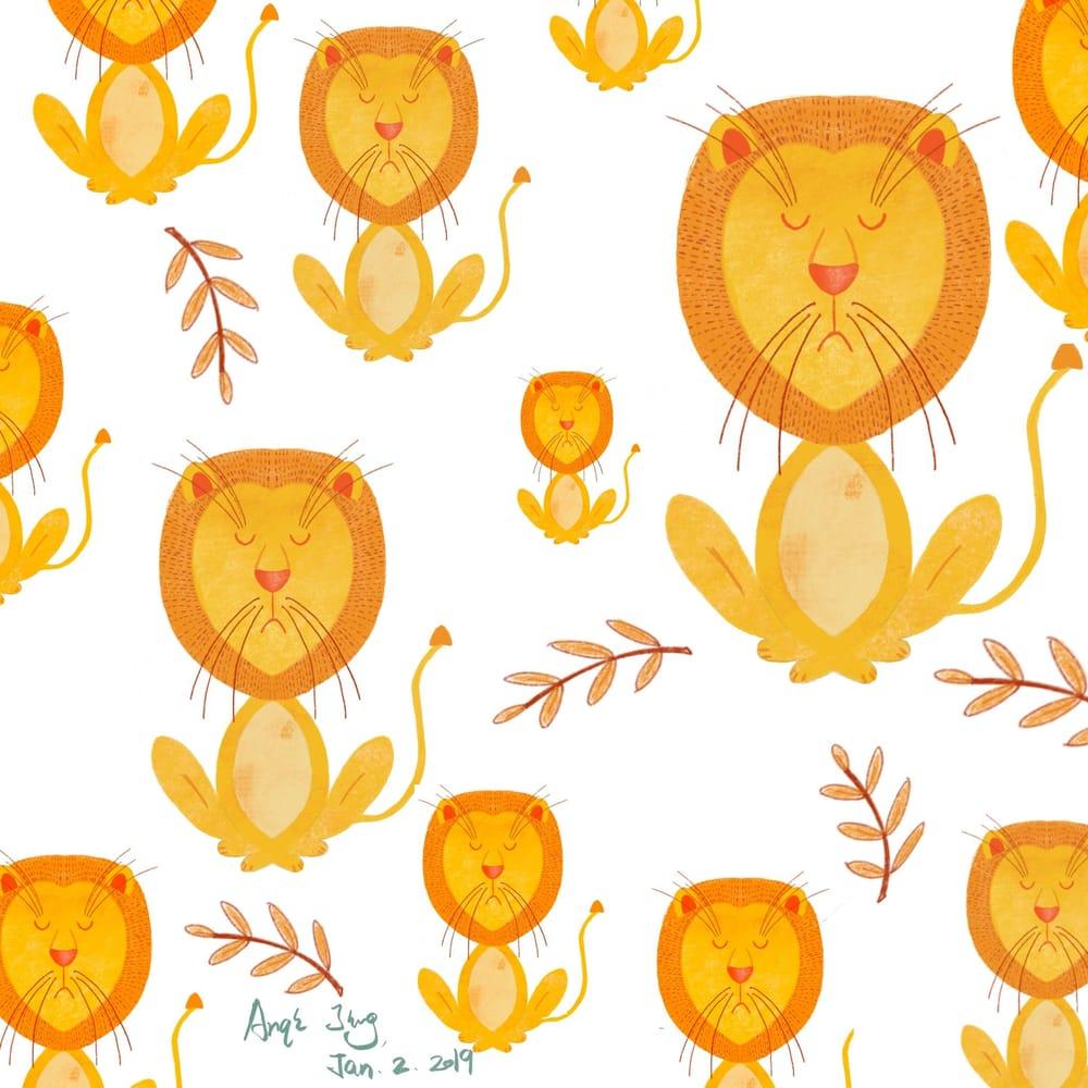 symmetric lion - image 1 - student project
