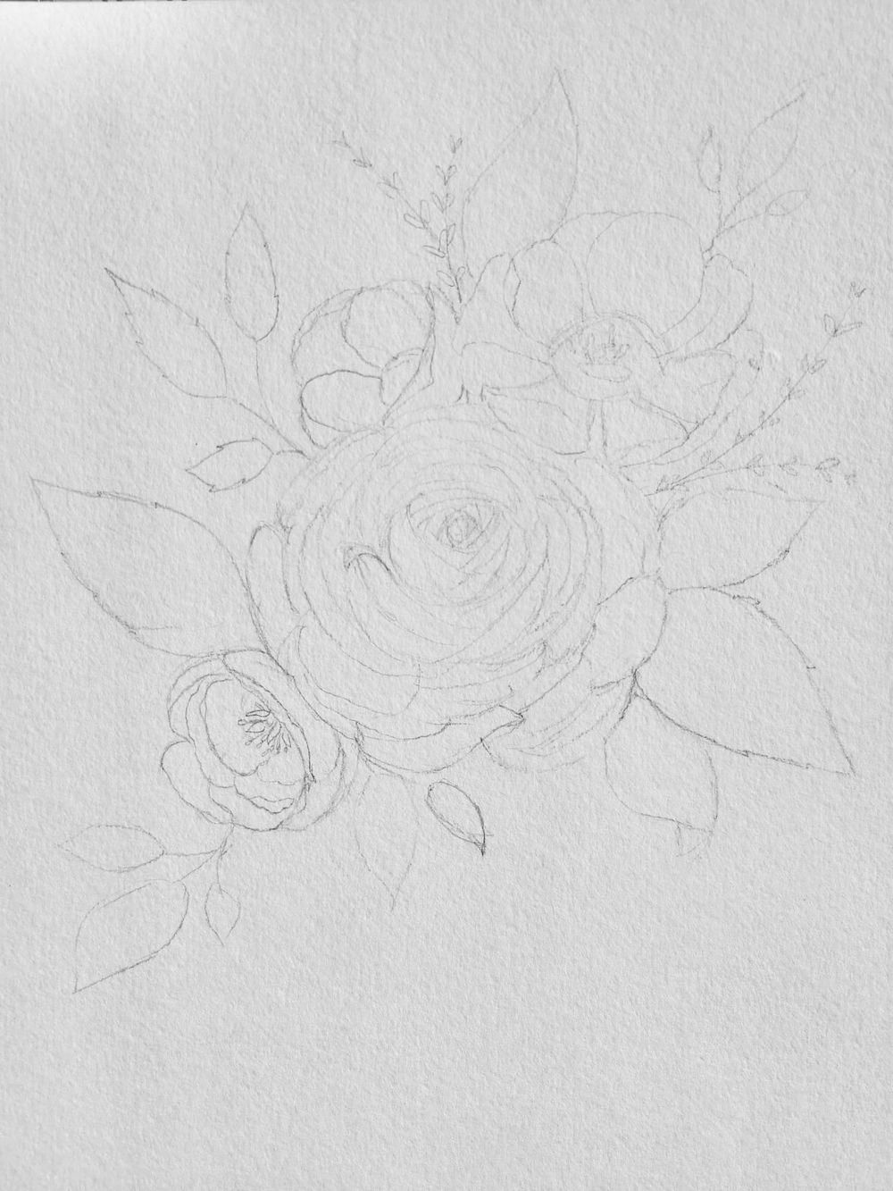 Floral Ink Drawing 101 - image 1 - student project