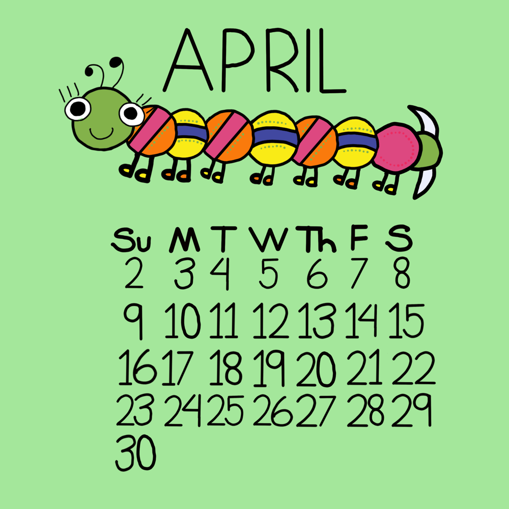 Caterpillar April! Spring workalong with kiddos! - image 1 - student project