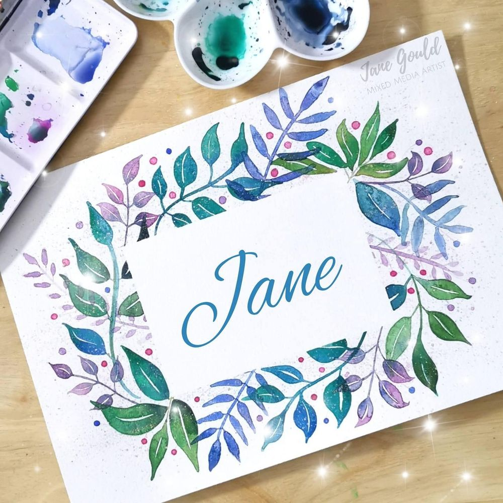 Loose Watercolor Leaves - Fun and Easy Way to Paint a Botanical Frame - image 3 - student project