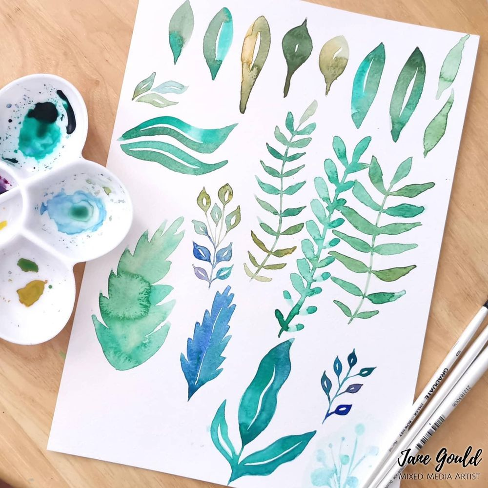Loose Watercolor Leaves - Fun and Easy Way to Paint a Botanical Frame - image 1 - student project
