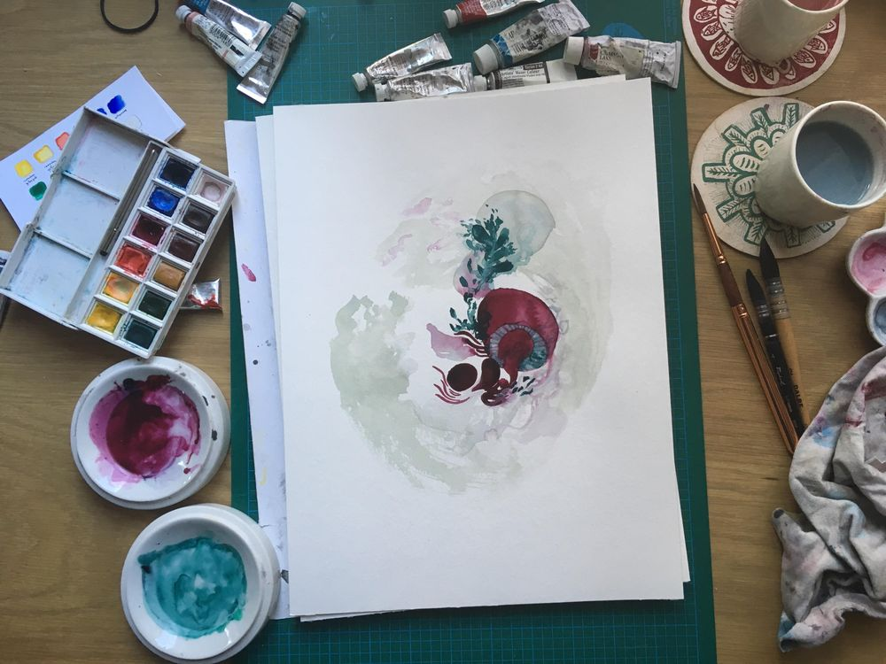 [Sample project] The wonderful world of watercolor - image 1 - student project