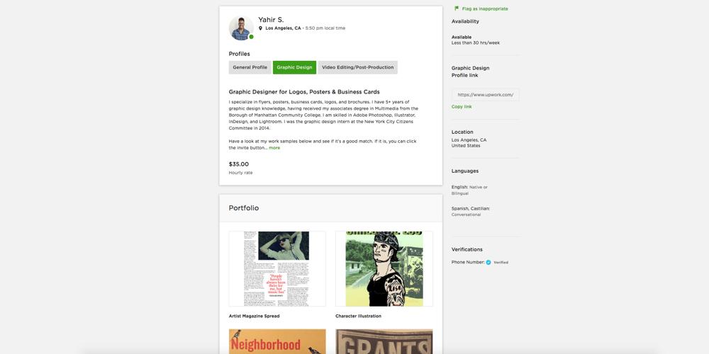 Yahir Smith Freelancer Profile - image 1 - student project