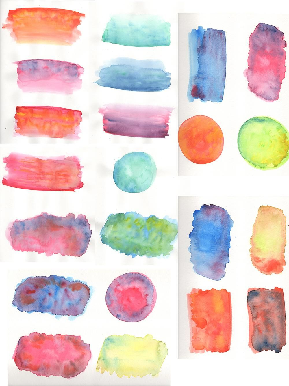 Watercolour textures - image 1 - student project