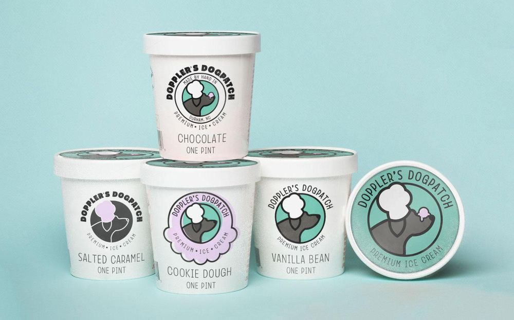 Logo for an ice cream company - image 4 - student project