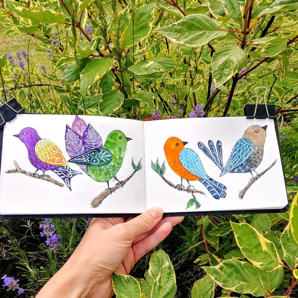 Folk birds - image 1 - student project