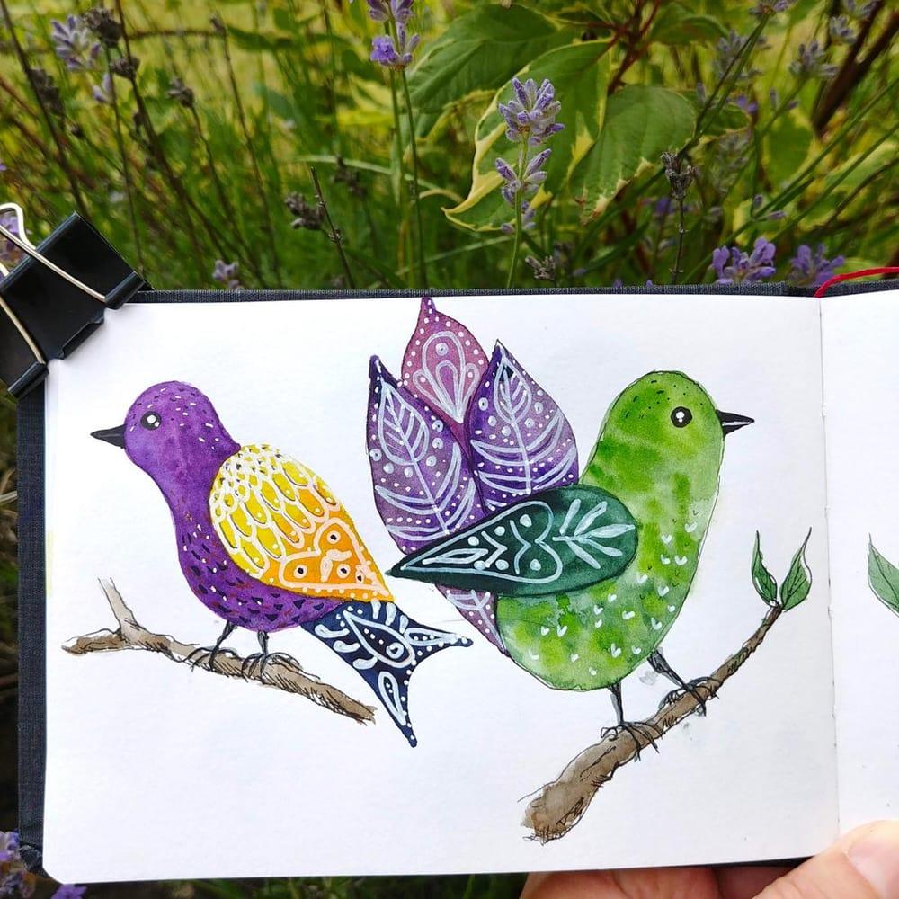 Folk birds - image 2 - student project