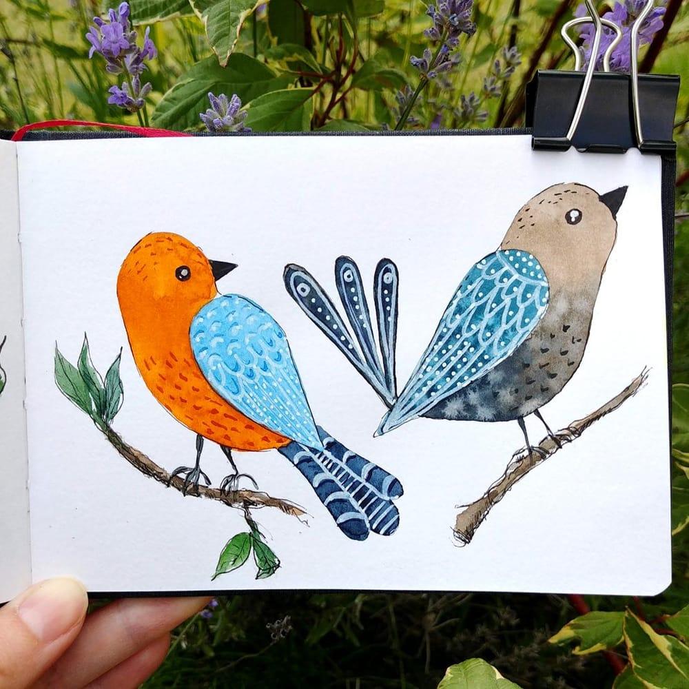 Folk birds - image 3 - student project