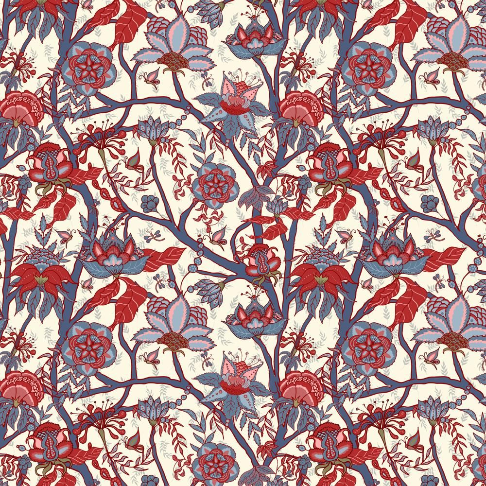 Indian floral pattern - image 1 - student project