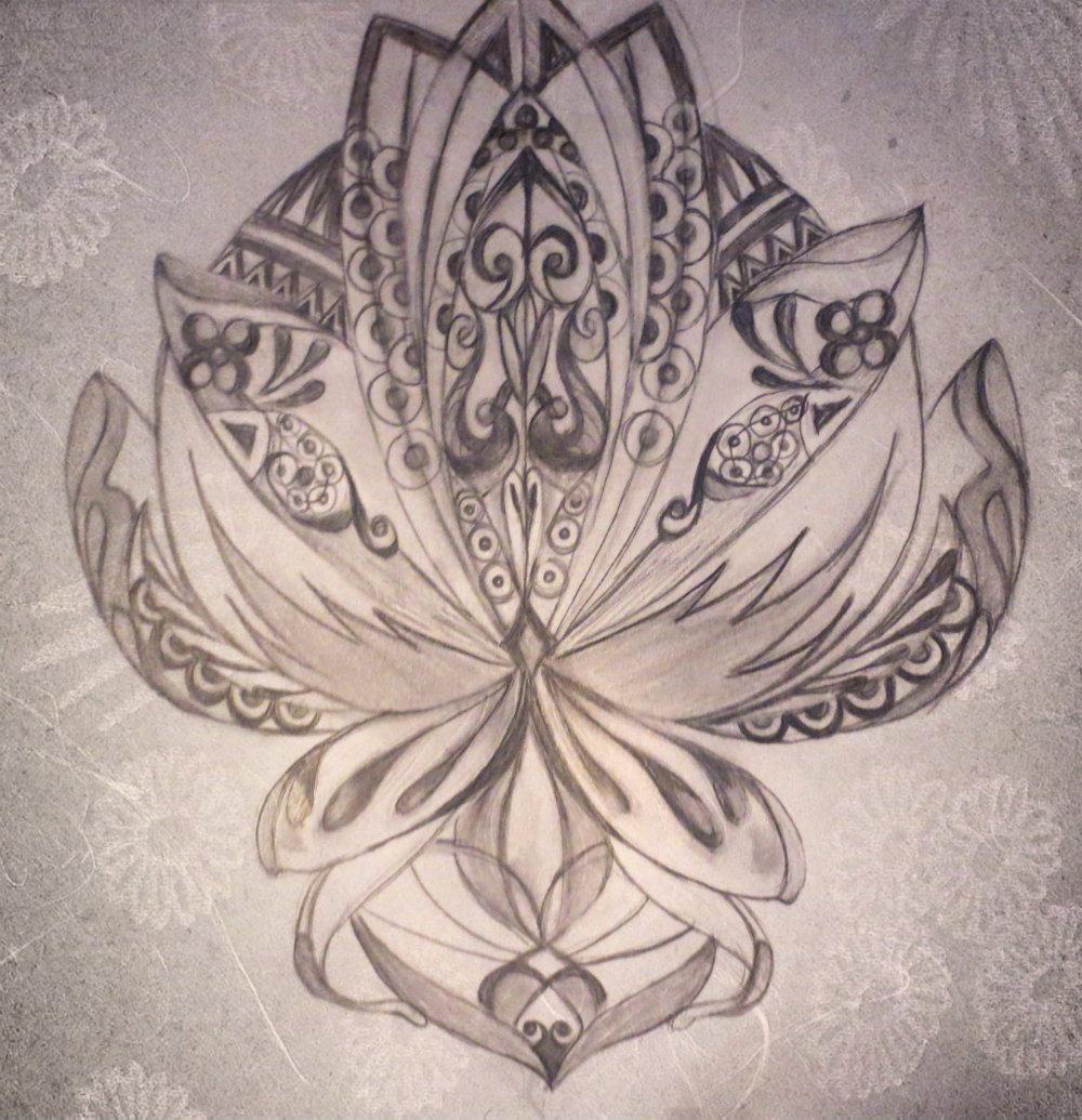 Lotus Design using Basic Shapes - image 1 - student project