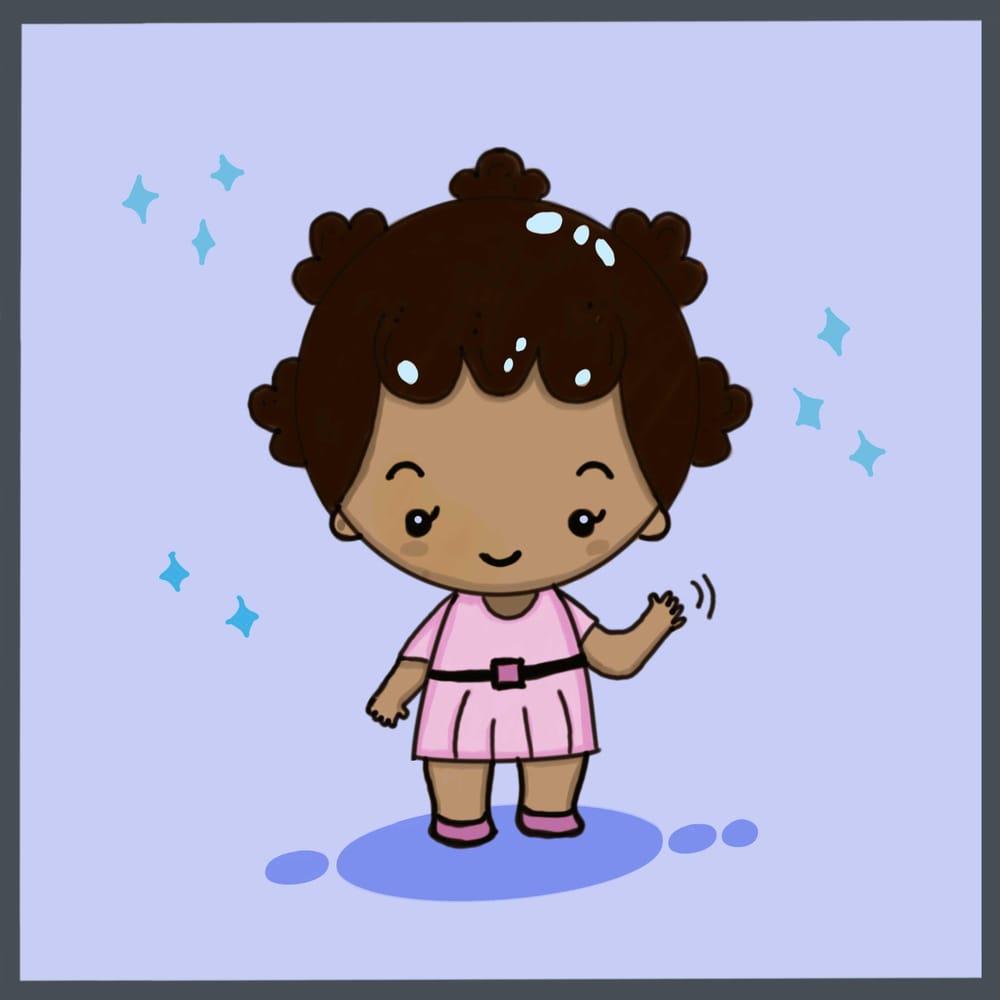 Kawaii African girl - image 1 - student project