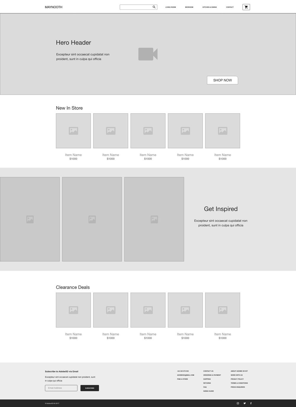 Maynooth Wireframe - Danielle V - image 1 - student project